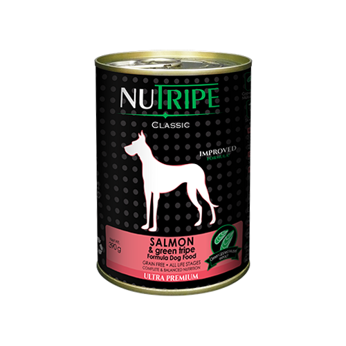 Nutripe Salmon and Green Lamb Tripe For Dogs
